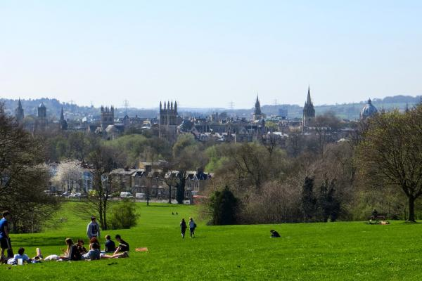 View from Oxford's South Parks